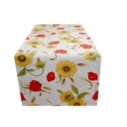 Behúň na stôl Divé maky a slnečnice MIG303 Made in Italy, 50 x 150 cm