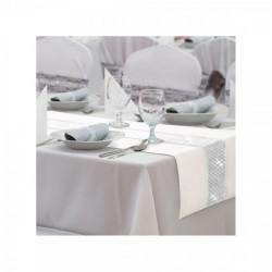 Behúň na stôl Glamour so zirkónmi krémový Krémová 40 x 110 cm #1