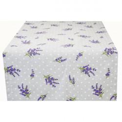 Behúň na stôl Levanduľa s bodkami Made in Italy, 50 x 150 cm