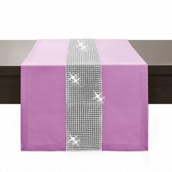 Behúň na stôl Glamour so zirkónmi svetloružový Ružová 40 x 110 cm