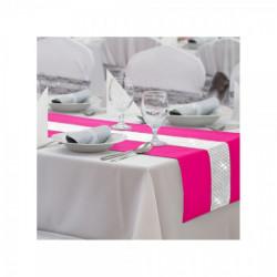 Behúň na stôl Glamour so zirkónmi tmavoružový Ružová 40 x 110 cm #1