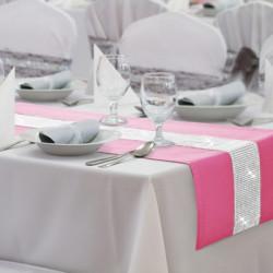 Behúň na stôl Glamour so zirkónmi ružový Ružová 40 x 110 cm #1
