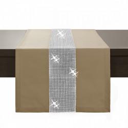 Behúň na stôl Glamour so zirkónmi cappuccino  Cappuccino 40 x 110 cm