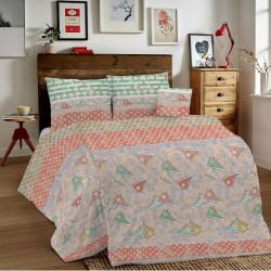 Bavlnené obliečky MIG002 80´roky oranžové Made in Italy, Oranžová, 140 x 200 cm