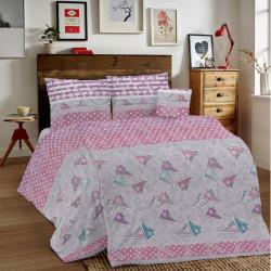 Bavlnené obliečky MIG002 80´roky ružové Made in Italy, Ružová, 140 x 200 cm