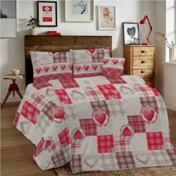 Bavlnené obliečky MIG002 Láska červené srdiečka Made in Italy, Červená, 140 x 200 cm
