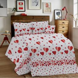 Bavlnené obliečky MIG002BA Balóny červené Made in Italy, Červená, 1x80x80/1x140x200 cm
