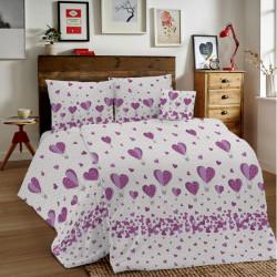 Bavlnené obliečky MIG002BA Balóny fialové Made in Italy, Fialová, 1x80x80/1x140x200 cm