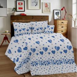 Bavlnené obliečky MIG002BA Balóny modré Made in Italy, Modrá, 1x80x80/1x140x200 cm