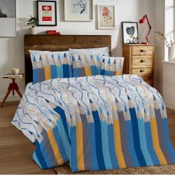 Bavlnené obliečky MIG002CR Ceruzky modré Made in Italy, Modrá, 1x80x80/1x140x200 cm