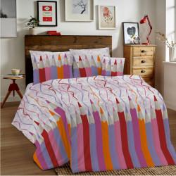 Bavlnené obliečky MIG002CR Ceruzky ružové Made in Italy, Ružová, 1x80x80/1x140x200 cm