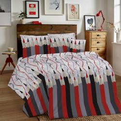 Bavlnené obliečky MIG002CR Ceruzky šedé Made in Italy, Šedá, 1x80x80/1x140x200 cm