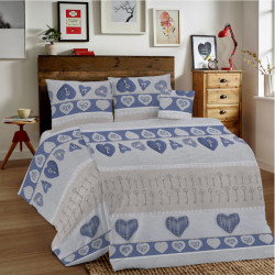 Bavlnené obliečky MIG002KL Kľúče modré Made in Italy, Modrá, 1x80x80/1x140x200 cm