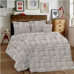Bavlnené obliečky MIG002MA Marina béžové Made in Italy, Béžová, 140 x 200 cm