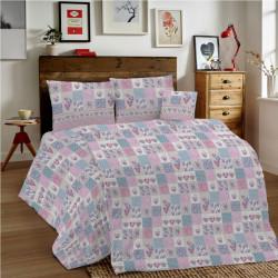 Bavlnené obliečky MIG002MA Marina ružové Made in Italy, Ružová, 1x80x80/1x140x200 cm