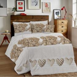Bavlnené obliečky MIG002ME Medvedík béžové Made in Italy, Béžová, 1x80x80/1x140x200 cm