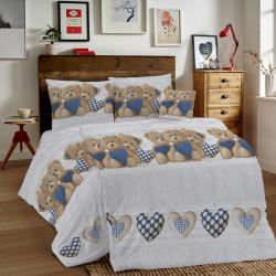 Bavlnené obliečky MIG002ME Medvedík modré Made in Italy, Modrá, 1x80x80/1x140x200 cm