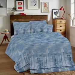 Bavlnené obliečky MIG002NY New York modré Made in Italy, Modrá, 1x80x80/1x140x200 cm