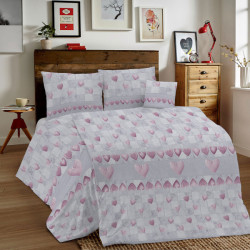 Bavlnené obliečky MIG002PT Patchwork ružové Made in Italy, Ružová, 1x80x80/1x140x200 cm