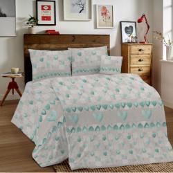 Bavlnené obliečky MIG002PT Patchwork zelené Made in Italy, Zelená, 1x80x80/1x140x200 cm