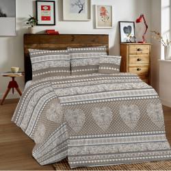 Bavlnené obliečky MIG002TI Tirol béžové Made in Italy, Béžová, 1x80x80/1x140x200 cm