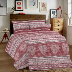 Bavlnené obliečky MIG002TI Tirol červené Made in Italy, Červená, 1x80x80/1x140x200 cm