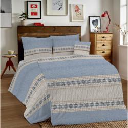 Bavlnené obliečky MIG002TR Trikot modré Made in Italy, Modrá, 1x80x80/1x140x200 cm