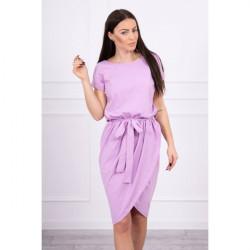 Bavlnené šaty s opaskom MI8980 lila Fialová