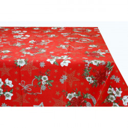 Bavlnený obrus 759E Made in Italy, Červená, 90 x 90 cm