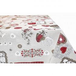 Bavlnený obrus 759TI 90x90 cm Made in Italy Béžová 90 x 90 cm