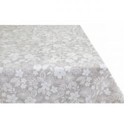 Bavlnený obrus béžový s bielymi kvetmi Made in Italy, 90 x 90 cm
