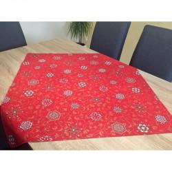 Bavlnený obrus Hviezdy MADE IN ITALY, červená, Rozmery 90x90 cm