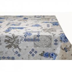 Bavlnený obrus Modré Kvety MADE IN ITALY, Farba modrá, Rozmery 90x90 cm  MADE IN ITALY 759