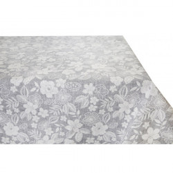 Bavlnený obrus šedý s bielymi kvetmi Made in Italy, 90 x 90 cm