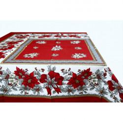 Bavlnený obrus Vianočné ruže Made in Italy, Bordová , 90 x 90 cm
