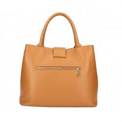 Béžová kožená kabelka 1137 Béžová #2