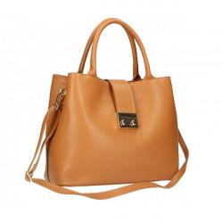 Béžová kožená kabelka 1137 Béžová #4