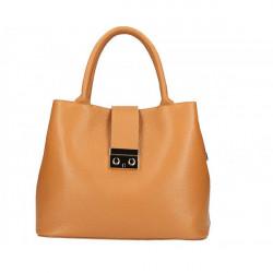 Béžová kožená kabelka 1137 Béžová #5