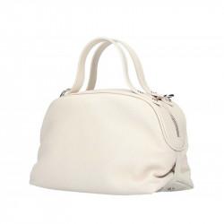Béžová kožená kabelka 5301 MADE IN ITALY, Farba béžová MADE IN ITALY 5301