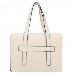 Béžová kožená kabelka 5302 MADE IN ITALY, béžová