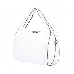 Biela kožená kabelka 5316, Biela