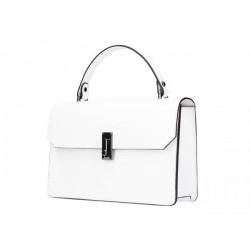 Biela kožená kabelka do ruky 5314, Biela