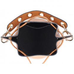 Biela vaková kožená kabelka 5319, Biela #1
