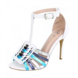Biele dámske sandále 335, Biela, 39