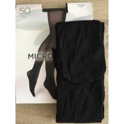 Boma Čierne pančuchové nohavice s mikrovláknom 50 DEN, L, Čierna