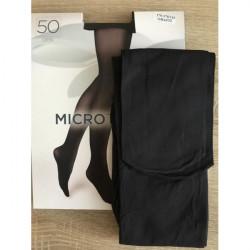 Boma Grafitové pančuchové nohavice s mikrovláknom 50 DEN, L, Čierna