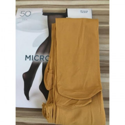 Boma Okrové pančuchové nohavice s mikrovláknom 50 DEN, L, Okrová