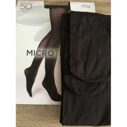 Boma Tmavohnedé pančuchové nohavice s mikrovláknom 50 DEN, L, Hnedá