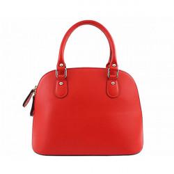 Červená dámska kožená kabelka 444, Červená