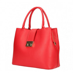 Červená kožená kabelka 5307, Červená